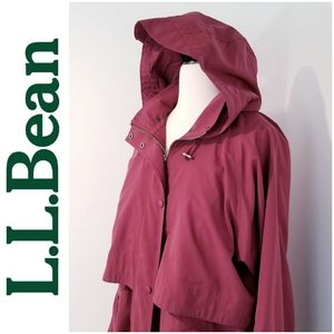 Vintage L.L. Bean Vented Hooded Trench Coat